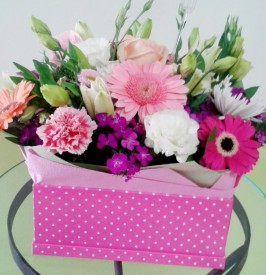 Nice box of varied colors of flowers