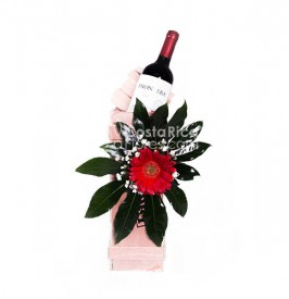 Decorated Box with Wine